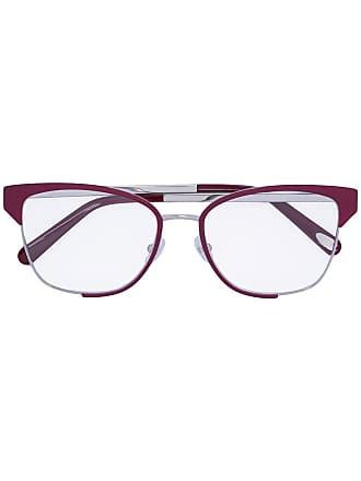 Salvatore Ferragamo Armação de óculos bicolor - Vermelho