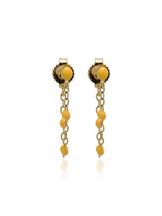 Gigi Clozeau Par de brincos de ouro amarelo