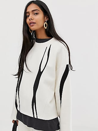 Weekday Sweater in Off white smooth print - Multi