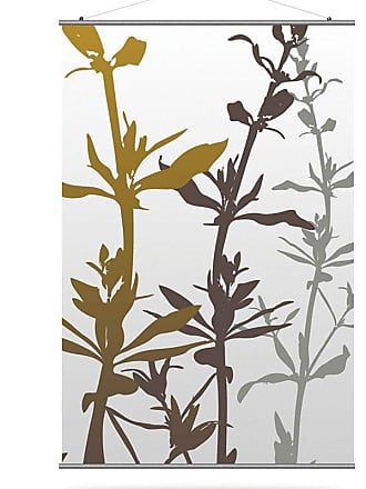 Inhabit Wildflower Canvas Wall Art Silver and Olive - WFSVOL_1616C
