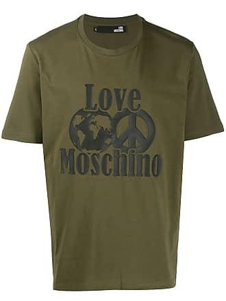 Love Moschino logo print T-shirt - Verde