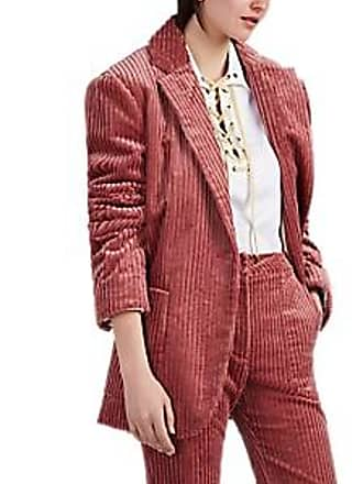 Land of Distraction Womens Tommy Cotton Corduroy Oversized Jacket - Pink Size XS