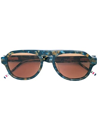 Thom Browne tortoiseshell aviator sunglasses - Blue