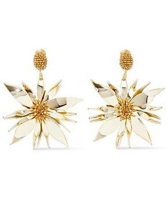 Oscar De La Renta Oscar De La Renta Woman Bead And Resin Clip Earrings Gold Size