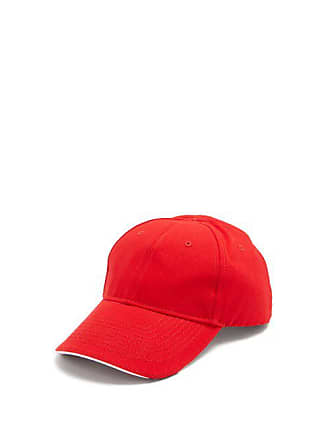 Balenciaga Europa! Embroidered Cotton Cap - Mens - Red