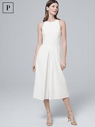White House Black Market Womens Petite White Culotte Jumpsuit by White House Black Market, Ecru, Size 00