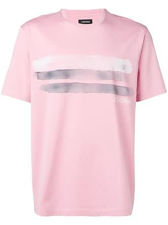 Ermenegildo Zegna brush strokes print T-shirt - Pink