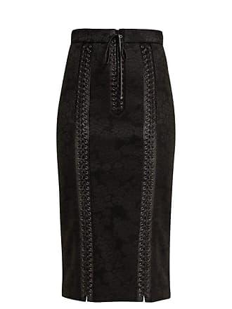 7107309f43bdd1 Dolce & Gabbana Floral Print Jacquard Pencil Skirt - Womens - Black