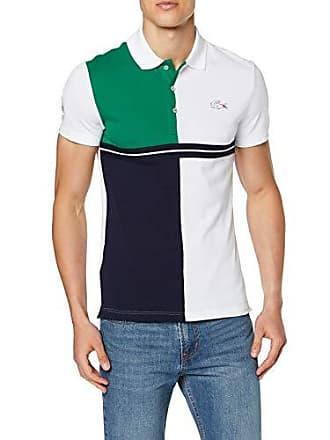8bb327e7eb Lacoste Sport PH3481 Polo Homme Multicolore (Blanc/Marine-Forest 7vt) XX-