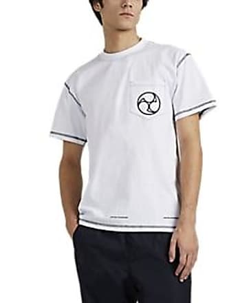 United Standard Mens Tomoe-Graphic Cotton T-Shirt - White Size XL