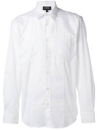 Les Hommes panelled formal shirt - Branco