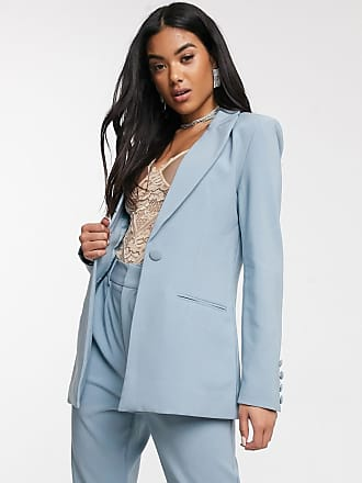 4th & Reckless fitted suit blazer in blue-Yellow