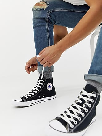 bbb0114f8655 Converse Chuck Taylor All Star Hi Plimsolls In Black M9160C