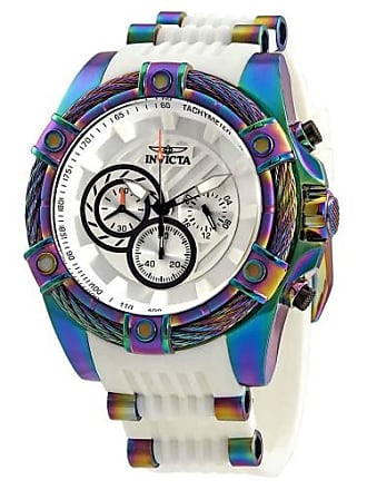 Invicta Mens 25530 Bolt White Polyurethane and Stainless Steel Watch