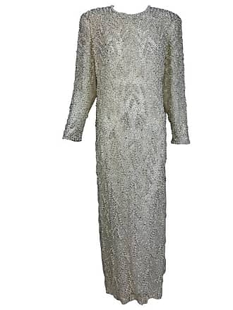 3be8049b91 1stdibs Vintage Heavily Beaded Pearl And Rhinestone Column Evening Gown  1980s Hong Kong