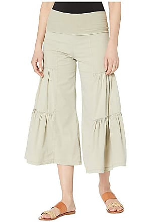 Xcvi Cropped Side Tier Palazzo (Fennel Pigment) Womens Casual Pants
