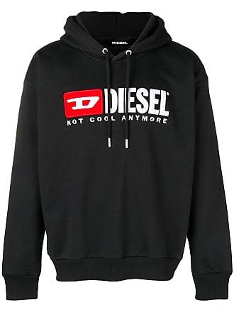 Diesel front logo hoodie - Black