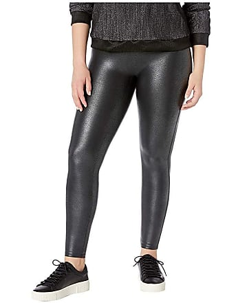af2ebb02f5dd34 Spanx Plus Size Faux Leather Pebbled Leggings (Pebble Grey) Womens Casual  Pants