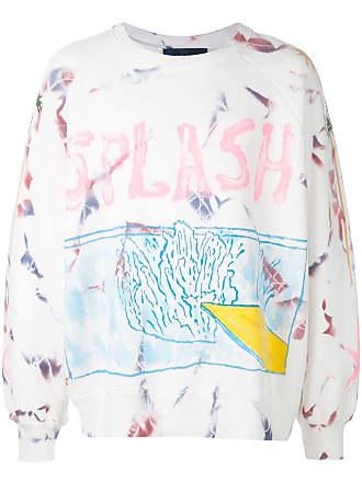 Lost Daze Splash tie-dye sweatshirt - White