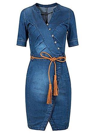 43f9cc7c25a932 Scothen Damen Jeans Skirt Frauen Langarm Slim Denim Jeans Party Minikleid  Jeans Bluse Frühling Sommer Elegant