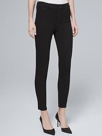 White House Black Market Womens High-Rise Skinny Crop Jeans by White House Black Market, Black, Size 14 - Regular