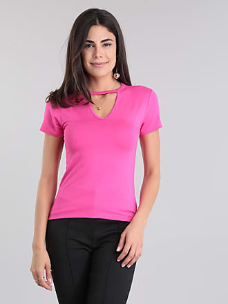 Basics Blusa Básica Choker Pink