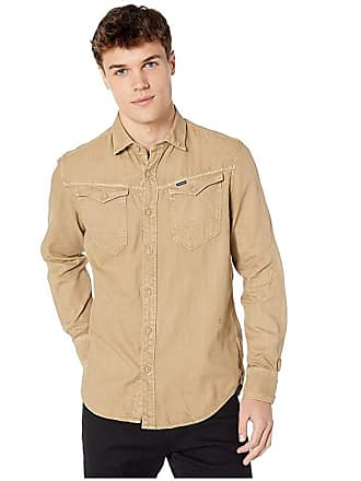 12e40de832d G-Star Arc 3D Long Sleeve Slim Shirt (Sahara) Mens Clothing