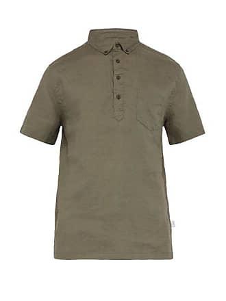 Onia Josh Slubbed Linen Shirt - Mens - Khaki