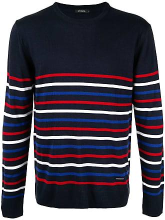 Loveless Suéter listrado color block - Azul