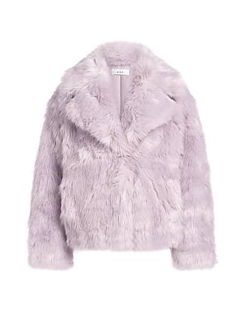 A.L.C. Grant Faux Fur Short Coat Lilac