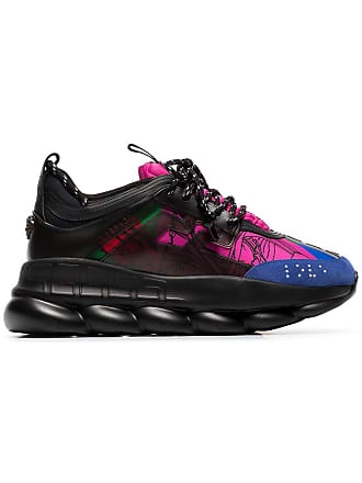 c0784b96a345 Versace black and multicoloured Chain Reaction sneakers