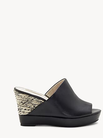 Louise et Cie Womens Ramsaye Espadrille Wedges Black Size 4 Leather From Sole Society