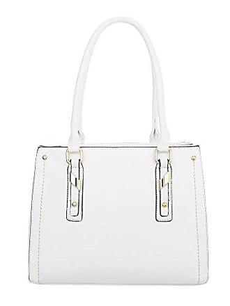 4dc9c49b436b3 Ital-Design Damen-Tasche Mittelgroße Schultertasche Handtasche Kunstleder  Weiß TA-K703