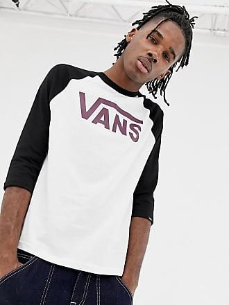 4278e71ffa9eb9 Vans Klassisches Raglan-T-Shirt in Weiß mit Logo