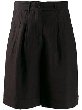 120% Lino wide leg shorts - Black