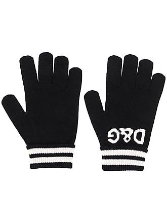 Dolce & Gabbana logo intarsia gloves - Preto