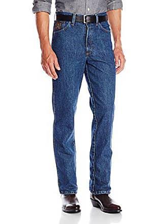 Cinch Mens Bronze Label Slim Fit Jean, Dark Stonewash, 30W x 38L