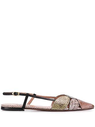L'autre Chose pointed flat ballerina shoes - Neutrals