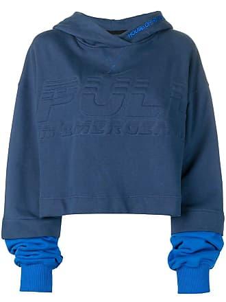 House Of Holland Moletom oversized com logo - Azul