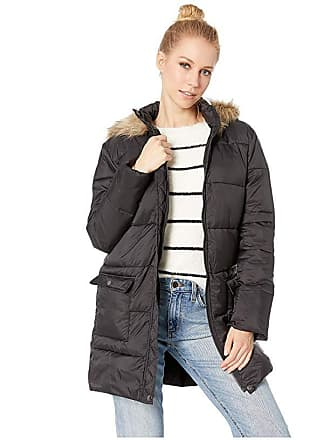 42592afd5eb BB Dakota Moon Walker Nylon Puffer Jacket with Fur-Lined Hood (Black) Womens