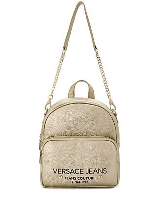 Versace Jeans Couture Mochila com logo e zíper - Dourado