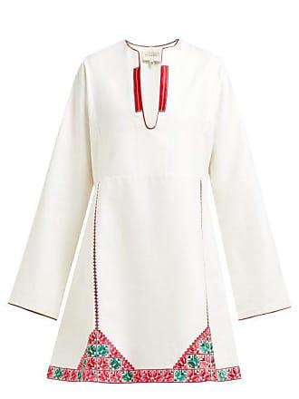 Zeus + Dione Skopelos Embroidered Silk Mini Dress - Womens - White