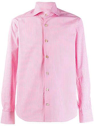 Kiton Camisa com estampa xadrez - Rosa
