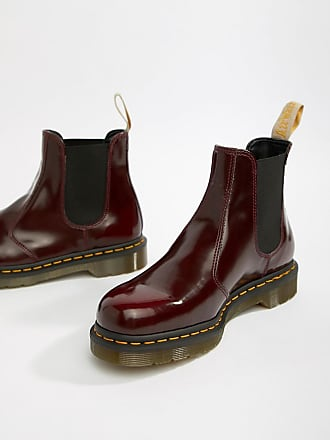 21d8b75e43a02b Dr. Martens Vegan 2976 - Rote Chelsea-Stiefel - Rot