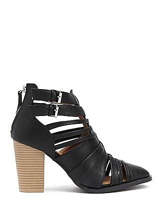 Forever 21 Forever 21 Strappy Faux Leather Cutout Booties Black