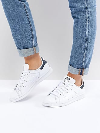 huge selection of 01f3b ddf94 adidas Originals Stan Smith - Sneakers bianche e blu navy - Bianco