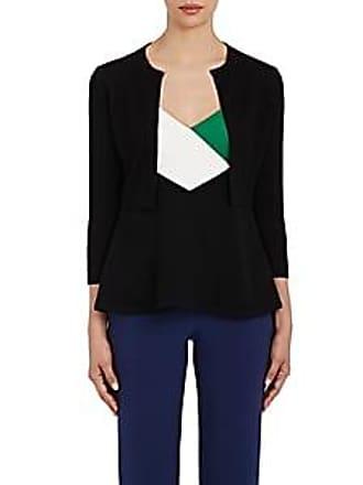 Lisa Perry Womens Merino-Wool-Cashmere Crop Cardigan - Black Size XS