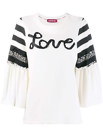 Guardaroba Blusa de moletom Love - Branco