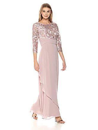 99f5e1532afa Alex Evenings Womens Long Lace Top Empire Waist Dress, Rose, 6