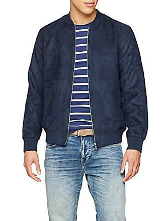 658bbb1202b801 Jack   Jones Herren Bomberjacke JJEHOWARD Bomber Jacket Blau Total Eclipse